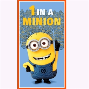 Despicable Me 1 In A Minion Dusty 24x44 Large Cotton Fabric Panel