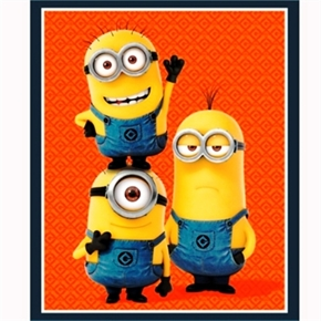 Picture of Despicable Me 1 In A Minion Three Minions Large Cotton Fabric Panel