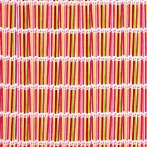 Surprise! Pink Girls Birthday Candles Party Cotton Fabric
