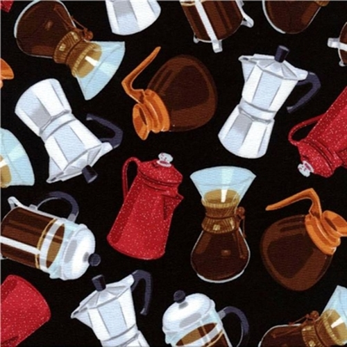 Coffee Pots Enamel Espresso French Press Grinder Black Cotton Fabric