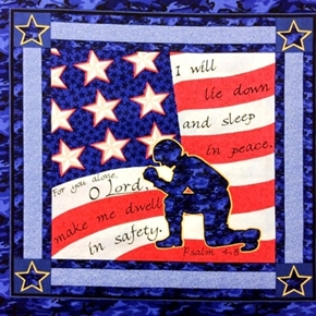 Military Soldiers Prayer Psalm 48 Soldier Cotton Fabric Pillow Panel