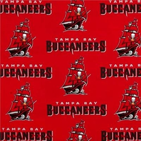 Nfl Football Tampa Bay Buccaneers Red 18X29 Cotton Fabric