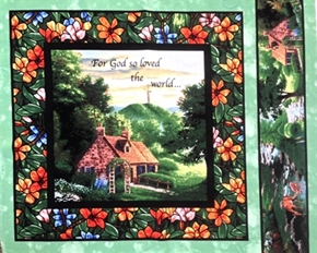 Picture of For God So Loved The World John 3:16 Cotton Fabric Pillow Panel