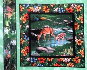 Picture of For God So Loved The World Deer Cotton Fabric Pillow Panel