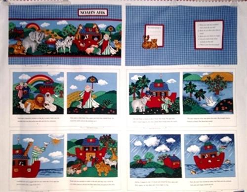Noahs Ark Story Cotton Fabric Book Craft
