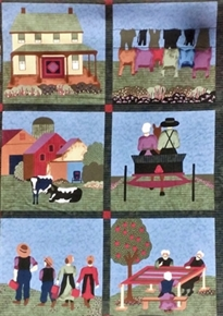 Almost Amish Scenes30x22 Cotton Pillow Panel Set