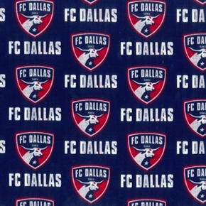 Mls Soccer Fc Dallas Frisco Texas Team 18X29 Cotton Fabric