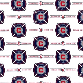 Mls Soccer Chicago Fire Team 18X29 Cotton Fabric