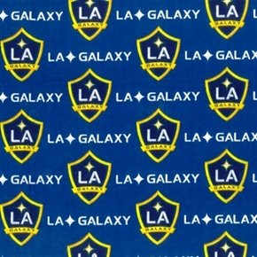 Mls Soccer La Galaxy Los Angeles Team 18X29 Cotton Fabric