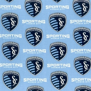 Picture of MLS Soccer KC Sporting Kansas City Team 18x29 Cotton Fabric