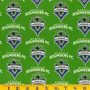 Mls Soccer Seattle Sounders Team 18X29 Cotton Fabric