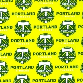 Mls Soccer Portland Timber Team 18X29 Cotton Fabric