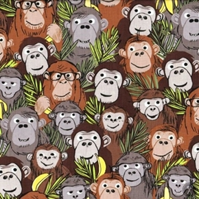 Picture of Jungle Jive Monkey Business Cute Monkeys in the Jungle Cotton Fabric