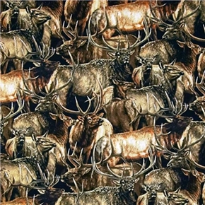 Wild Wings Brighton Passage Packed Elk Cotton Fabric