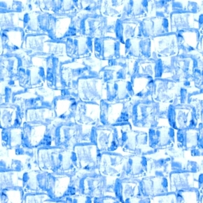Man Cave Bluish Ice Cubes Cotton Fabric