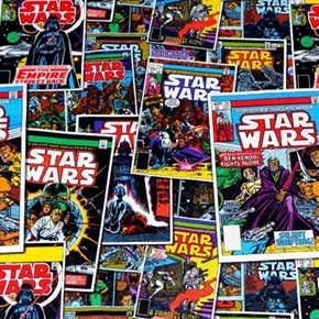 Picture of Star Wars Empire Strikes Back Comic Book Covers Cotton Fabric