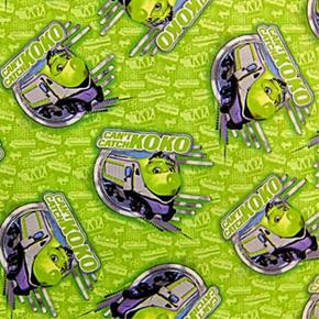 Chuggington Cant Catch Koko Cartoon Trains Green Cotton Fabric