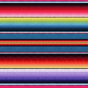 Fiesta Southwest Native American Blanket Stripe Cotton Fabric