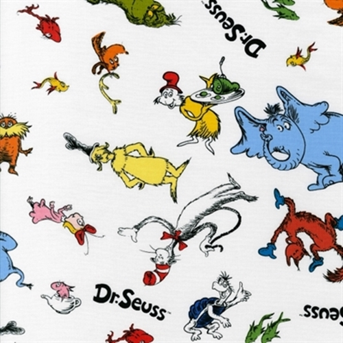 Cotton Fabric - Character Fabric - Dr. Seuss Cat in the ...
