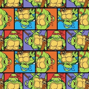 Picture of TMNT Teenage Mutant Ninja Turtle Portrait Patch Cotton Fabric