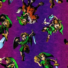 Nintendo The Legend Of Zelda Link With Sword Ombre Cotton Fabric