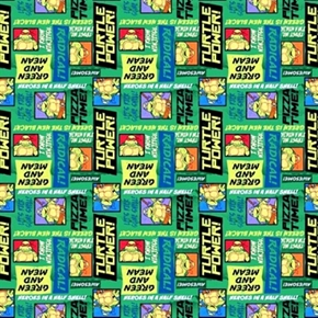 Tmnt Teenage Mutant Ninja Turtle Trust Me Im a Turtle Cotton Fabric