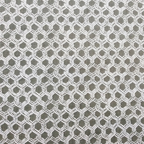 By The Sea Chain Link Fence Interlocking Chain Pattern Cotton Fabric