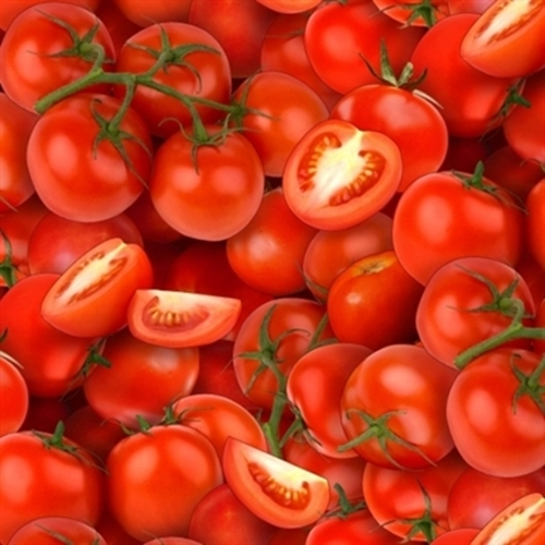 Food Festival Fresh Red Tomatoes Tomato Cotton Fabric