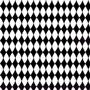 Carousel Black And White Diamond Pattern Diamonds Cotton Fabric