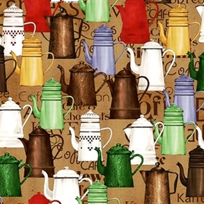 Picture of Daily Grind Enamel Coffee Pots Cotton Fabric