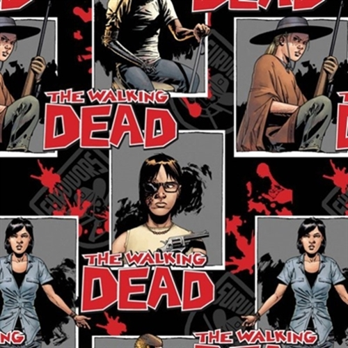 Cotton Fabric Character Fabric The Walking Dead Ready For War