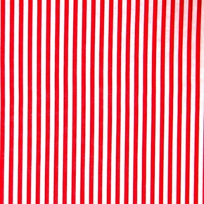 Picture of Festival Stripe 1/4 Inch Stripes Red and White Striped Cotton Fabric