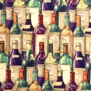 Picture of Packed Wine Bottles Susan Winget Cotton Fabric