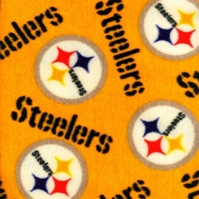 Picture of NFL Football Pittsburgh Steelers Yellow Half Yard Fleece Fabric