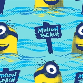 Minion Movie All Natural Minion Beach Cotton Fabric