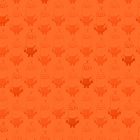 Minion Movie Kevin Tonal Blender Orange Cotton Fabric