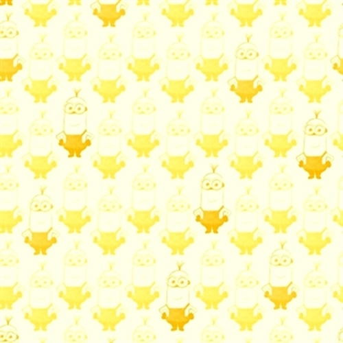 Minion Movie Kevin Tonal Blender White And Yellow Cotton Fabric