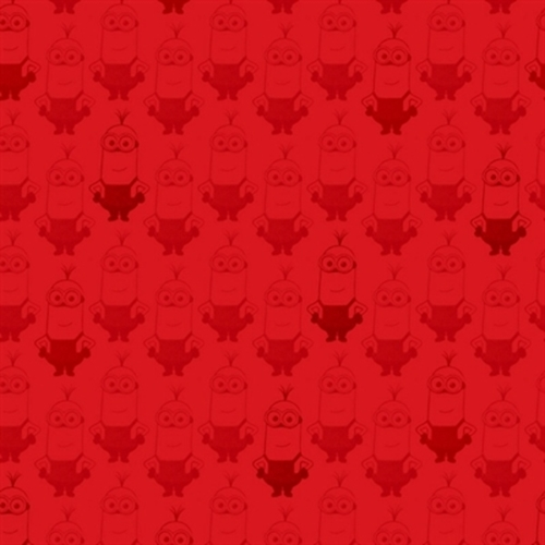 Minion Movie Kevin Tonal Blender Red Cotton Fabric