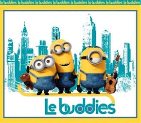 Minion Movie Le Buddies Large Cotton Fabric Panel