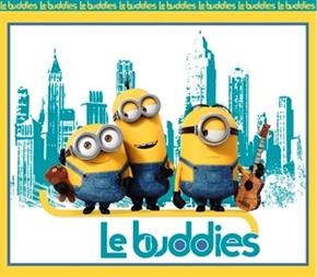 Minion Movie Le Buddies Large Cotton Fabric Panel