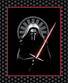 Star Wars The Force Awakens Kylo Ren Large Cotton Fabric Panel