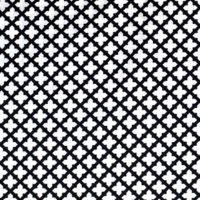 Picture of Black and White Cross Design Cotton Fabric