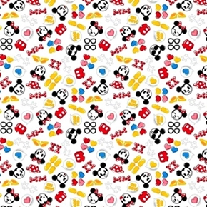 Disney Emojis Mickey And Minnie Icons Character Emoji Cotton Fabric