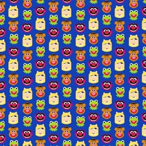 Picture of Disney Emojis Tiny Sesame Street Muppets Emoji Cotton Fabric