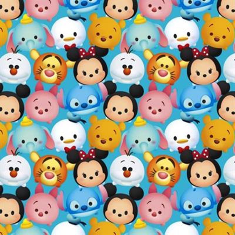 Cotton fabric character fabric disney emojis tsum tsum disney plush toy emoji 4my3boyz for Emoji material by the yard