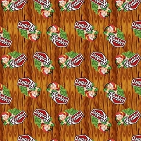 Kelloggs Keebler Elf In Tree Keebler Elves Cotton Fabric