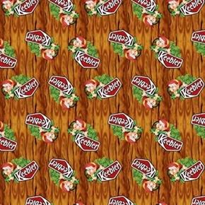 Kelloggs Keebler Elf In Tree Keebler Elves Cotton Fabric