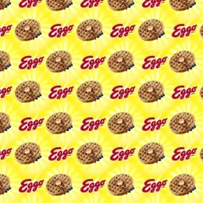 Kelloggs Leggo My Eggo Sunshine Cotton Fabric