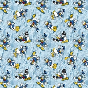 Picture of Disney Donald Duck Faces Donald in Action Cotton Fabric