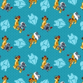 Disney The Lion Guard Friend Power Kion And Bunga Cotton Fabric